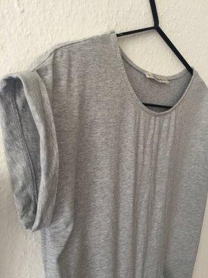 T-shirt jurk lichtgrijs