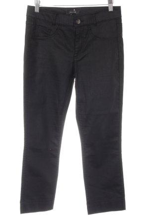 Comma Pantalon 3/4 noir style décontracté
