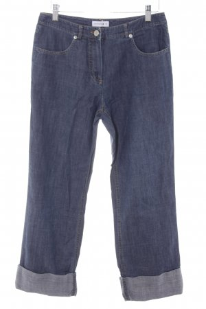 Comma 7/8 Jeans stahlblau Casual-Look