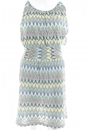 Comma A-Linien Kleid abstraktes Muster Casual-Look