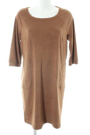 Comma A-Linien Kleid camel Vintage-Look