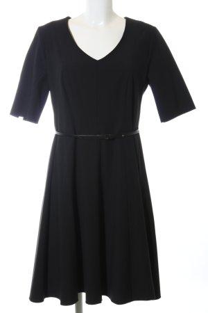 Comma Robe trapèze noir style décontracté