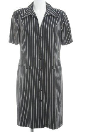 Comma A-Linien Kleid dunkelblau-creme Streifenmuster 40ies-Stil