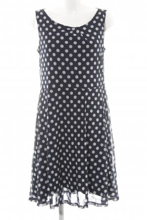 Comma A-Linien Kleid dunkelblau-hellgrau Punktemuster Elegant
