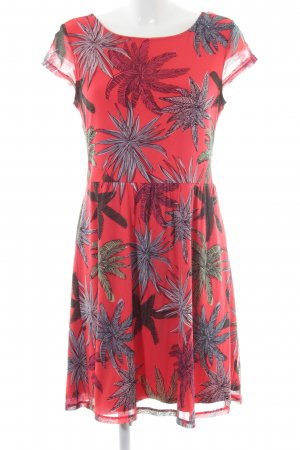 Comma A-Linien Kleid florales Muster Casual-Look