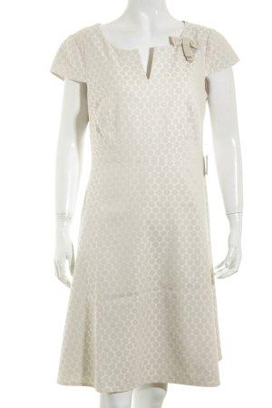 Comma A-Linien Kleid nude-creme Punktemuster klassischer Stil