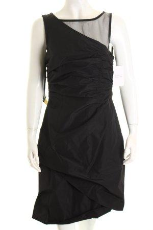 Comma A-Linien Kleid schwarz Elegant