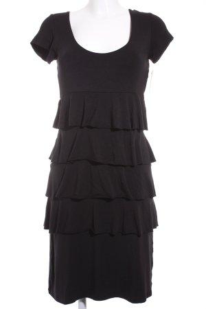 Comma A-Linien Kleid schwarz schlichter Stil