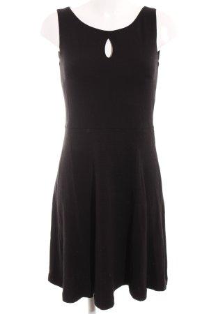 Comma A-Linien Kleid schwarz Streifenmuster Elegant