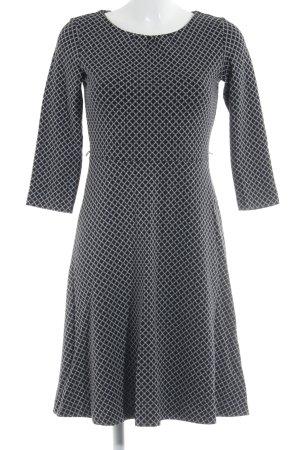 Comma A-Linien Kleid schwarz-weiß Punktemuster Casual-Look