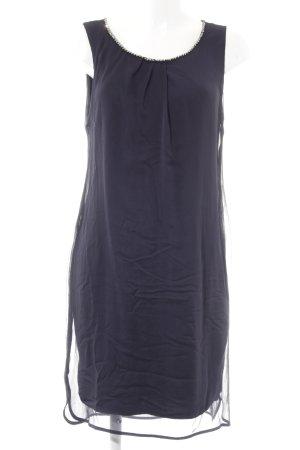 Comma Abendkleid dunkelblau Schmucksteinverzierung
