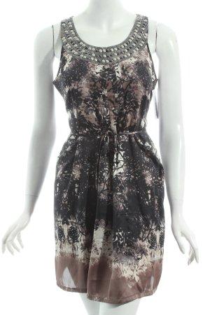 Comma Abendkleid florales Muster Metallelemente