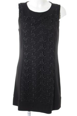 Comma Abendkleid schwarz florales Muster Elegant