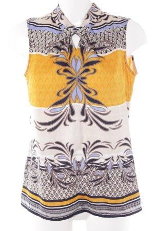 Comma ärmellose Bluse abstraktes Muster klassischer Stil
