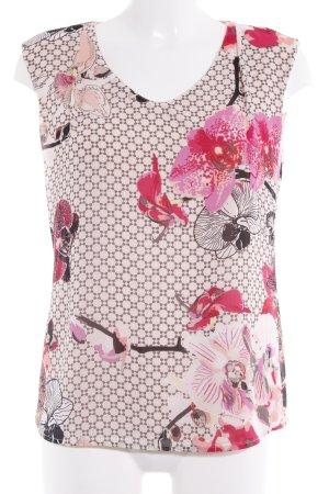 Comma ärmellose Bluse Blumenmuster Casual-Look