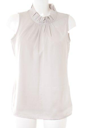 Comma ärmellose Bluse creme klassischer Stil