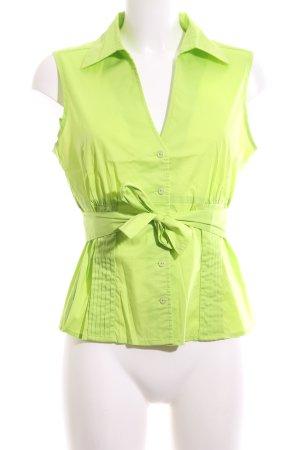 Comma Mouwloze blouse groen casual uitstraling