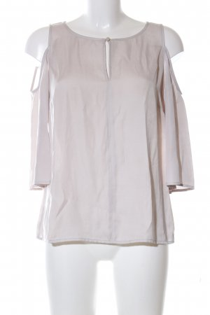 Comma Mouwloze blouse wolwit zakelijke stijl