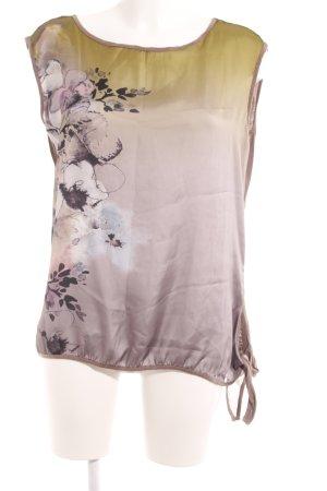 Comma ärmellose Bluse florales Muster extravaganter Stil