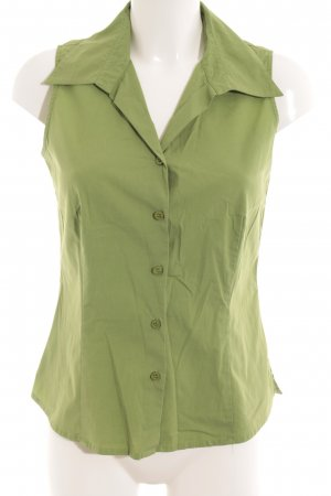 Comma ärmellose Bluse grasgrün Business-Look