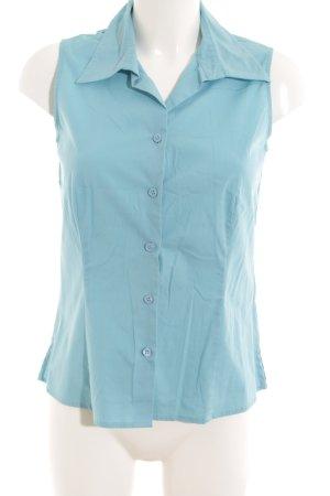 Comma ärmellose Bluse kornblumenblau Business-Look