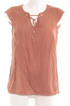 Comma ärmellose Bluse rostrot schlichter Stil