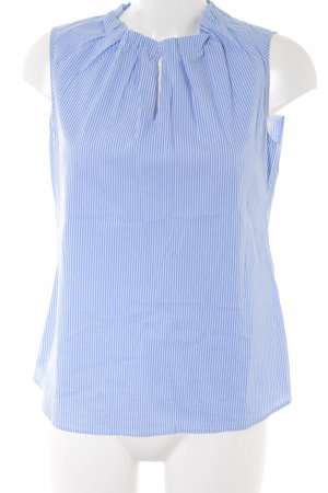 Comma Sleeveless Blouse white-blue striped pattern casual look