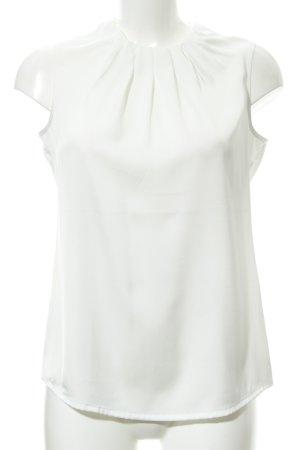 Comma Blouse sans manche blanc élégant