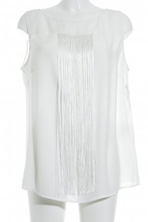 Comma ärmellose Bluse weiß Elegant
