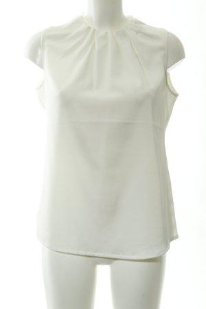 Comma Blusa sin mangas blanco puro elegante