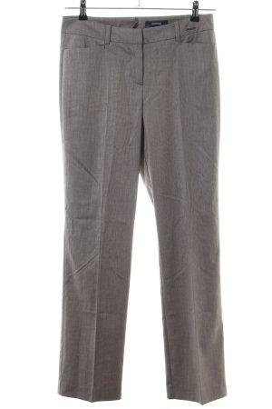 Comma Pantalon lichtgrijs gestreept patroon zakelijke stijl