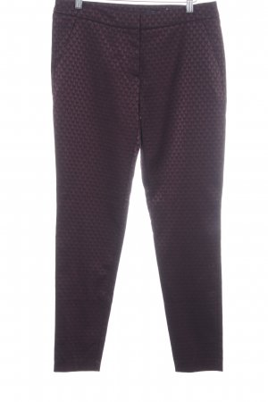 Comma Pantalon de costume rouge mûre-noir motif abstrait style d'affaires