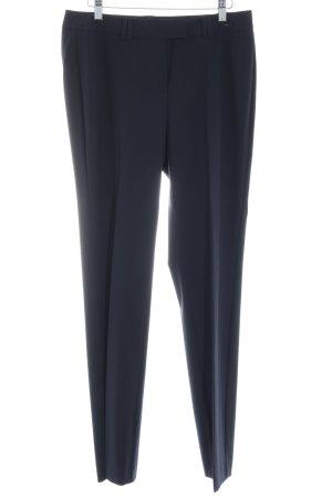 Comma Pantalon donkerblauw zakelijke stijl