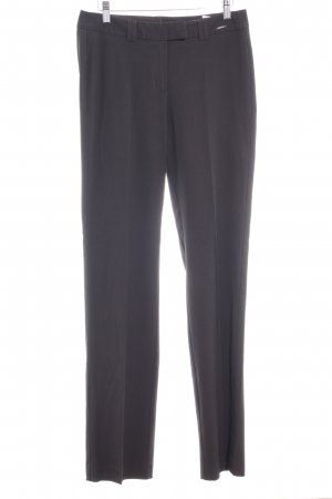 Comma Pantalone da abito marrone scuro stile professionale