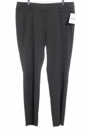 Comma Suit Trouser grey brown striped pattern business style