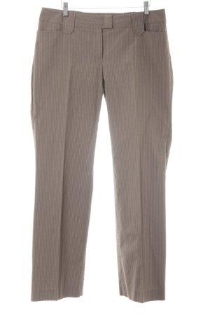 Comma Pantalon groen-grijs krijtstreep zakelijke stijl