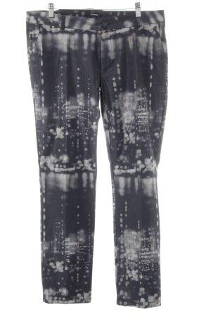 Comma Pantalon de costume noir-gris clair motif de tache style extravagant