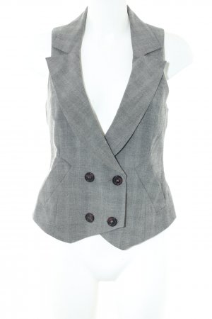 Comma Waistcoat light grey check pattern business style