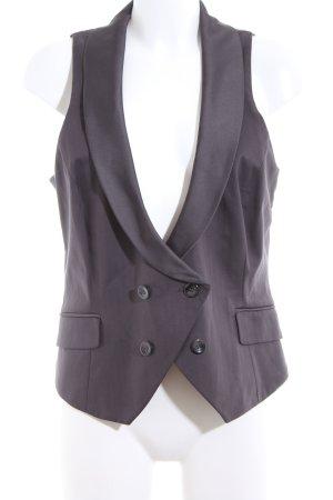 Comma Gilet de costume gris clair Motif de tissage style d'affaires