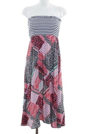 Comma Vestido bandeau estampado con diseño abstracto look Boho