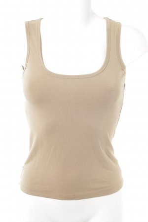 Comma Basic Top hellbraun schlichter Stil