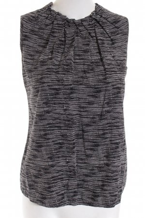 Comma Basic Top schwarz-weiß abstraktes Muster Casual-Look
