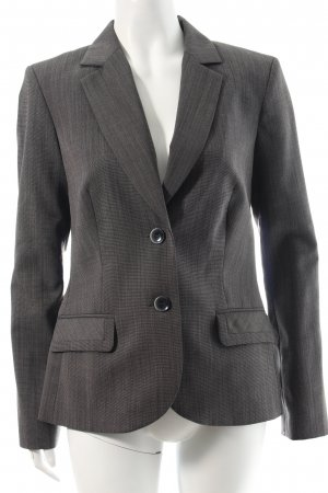 Comma Blazer anthrazit-weiß meliert Business-Look