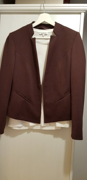 Comma Blazer bordeauxfarben