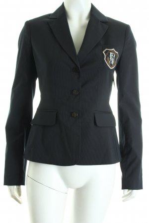Comma Blazer dunkelblau Nadelstreifen Business-Look