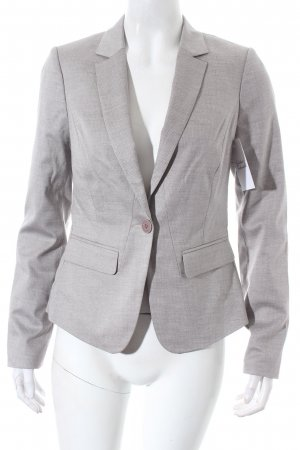Comma Blazer grau-hellgrau Business-Look