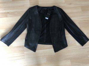 Comma Leather Blazer black