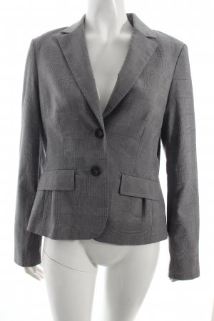 Comma Blazer wollweiß-schwarz Glencheckmuster Business-Look