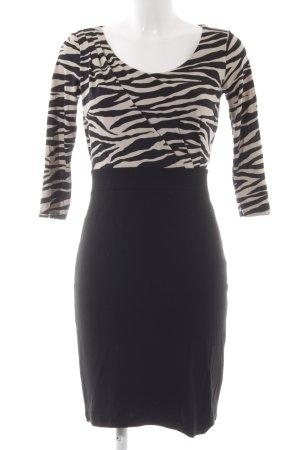 Comma Abito longuette nero-color cammello Stampa leopardata elegante