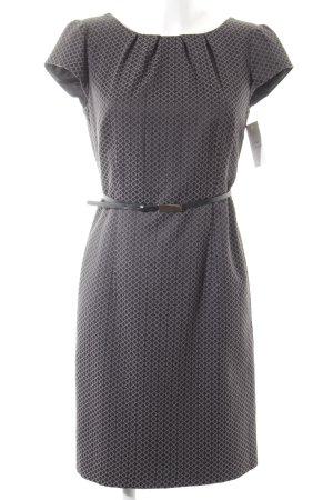 Comma Bleistiftkleid schwarz-grau abstraktes Muster Casual-Look